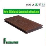 WPC recouvert par bois en plastique extérieur parquetant le Decking composé