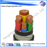 Baja tensión XLPE o cable de transmisión del PVC Insulated/DC/Electric