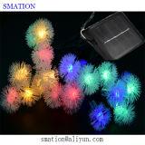 安く白い電池式LED装飾的な屋外ストリングロープのクリスマスの星ライト