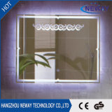 Espejo elegante encendido Fogless impermeable del cuarto de baño LED de la alta calidad