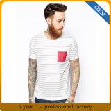 Gli uomini su ordinazione mettono la maglietta in cortocircuito barrata manicotto con la casella