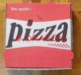 Euroart-dünnes Anzeigeinstrument-gewölbter Kraftpapier-Pizza-Kasten (PIZZA-021)
