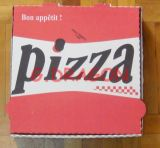 Caixa natural da pizza do cartão do olhar (PIZZA-021)