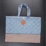 Изготовленный на заказ мешок ситца хозяйственной сумки хлопка печатание логоса с ручкой
