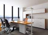 Lâmpada de assoalho de aço moderna da lâmpada do diodo emissor de luz da base do escritório 10W 32V de Uispair