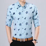 Tasten-unten Geschäfts-Hemd für Kleidung der Männer mit Lilien-Muster
