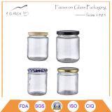 シリンダー形のガラス込み合いの瓶、食糧瓶、食糧容器