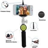 Monopod Mini Bluetooth Snap Shutter Selfie Stick com telefone celular