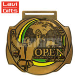 Металл Jiu-Jitsu изготовленный на заказ годовщины игры спорта способа национальной бразильский награждает медаль