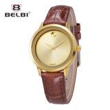 Dames van de van Bedrijfs belbi de Eenvoudige Lijst van de Legering van het Horloge van het Leer Waterdicht makende