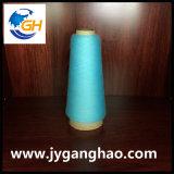 Polyester gesponnene Garne in Cyan-blauem
