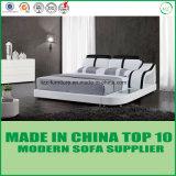 Dubai-modernes Schlafzimmer-reales ledernes Bett
