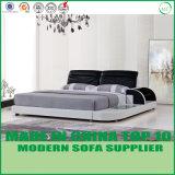 Lederner König Leather Bed für Schlafzimmer-Gebrauch