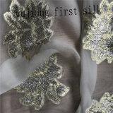 Tela de seda de Lurex, Chiffon de seda de Lurex, tela de seda de Organza de Lurex
