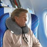 Almohadilla del cuello fijada con espuma de la memoria, la máscara de ojo, auriculares y una bolsa del recorrido