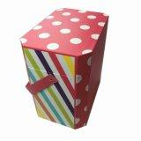 Rectángulo de regalo de papel creativo rosado de la dimensión de una variable irregular/rectángulo rígido decorativo de la Navidad