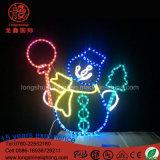 Indicatore luminoso decorativo di motivo del pupazzo di neve del LED per la decorazione della via di natale