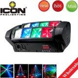 Testa mobile del ragno 8X3w RGBW LED per l'indicatore luminoso della fase