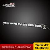 Le CREE blanc ambre 10W 12V de couleur imperméabilisent la barre d'éclairage LED pour le camion tous terrains