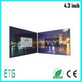 Cartolina d'auguri dello schermo dell'affissione a cristalli liquidi da 4.3 pollici video per la promozione