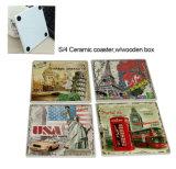 Stuoia di ceramica della tazza del commercio all'ingrosso del fornitore della Cina, stuoia personalizzata della tazza di stampa di disegno