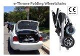 세륨을%s 가진 편리한 E 왕위 휴대용 경량 무브러시 폴딩 전자 휠체어
