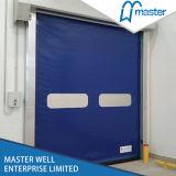Porta de alta velocidade industrial automática do obturador de rolamento do PVC