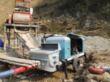 De aanhangwagen-opgezette Elektrische Diesel van de Concrete Pomp,
