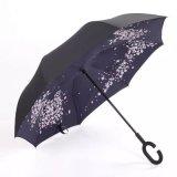 [دووبل لر] يعكس مظلة سيدات عكسيّة مظلة مظلة مستقيمة لأنّ سيدة مطر خارجيّ مع [ك-شبد] مقبض