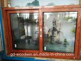 Окно деревянного зерна высокого качества Woodwin алюминиевое сползая с экраном Ss