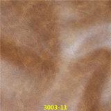 Leatherette sintético amarrotado gravado do plutônio dos acessórios de matéria têxtil para sapatas