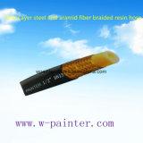 "1/2 "" Dn13 un boyau tressé d'acier de couche et de résine de fibre d'Aramid"