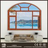 Heißes Verkäufer-Doppelt-ausgeglichenes Glas-Aluminiumlichtbogen-Fenster