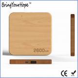 деревянный миниый тонкий квадратный крен силы 2600mAh (XH-PB-220)