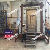 De houten Deur van de Nooduitgang met Glas met UL Ceritificate