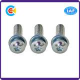 Viti galvanizzate di combinazione del rilievo piano della testa della vaschetta del Cinquefoil dell'acciaio inossidabile per elettrico/elettronico/macchinario