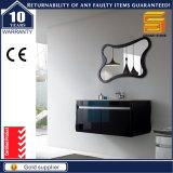 Wall Mounted Europea MDF Negro pintura Mueble de baño con espejo