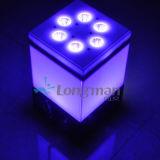9*14W Rgbawuv 6in1 DMX Draadloze LEIDENE Lampen Op batterijen Binnen