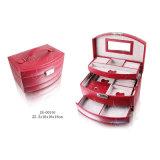Случай/коробка ювелирных изделий хранения подарка PU роскошной европейской конструкции складные кожаный