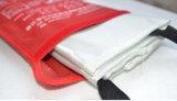 coperta del fuoco della vetroresina del tessuto del silicone della prova di resistenza al fuoco di 1.2*1.2m