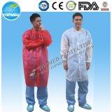 Cappotto del laboratorio dell'abito dell'ospedale dei pp SMS PP+PE con il certificato del Ce