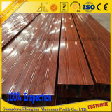Perfil de aluminio de aluminio para la decoración de madera de los muebles del grano