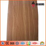 O PE quebrado quente do núcleo do preço de fábrica da venda revestiu o painel composto de alumínio do revestimento de madeira (AE-308)