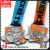 Медали спорта металла промотирования дешевые изготовленный на заказ с тесемкой