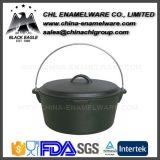 無煙多彩な鉄の鋳造物のエナメルの円形のキャンプのダッチオーブン