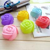 Rose a formé le moulage de savon de silicones de 7cm