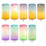 Cas de téléphone cellulaire de l'effet TPU de couleur de gradient de sensation de main de forme de poignet bon pour l'iPhone 7