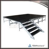 Assemblea mobile di alluminio che illumina la fase portatile della piattaforma di evento portatile