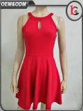 2017 neue rote Jacquardwebstuhl-Dame-Partei-Kleiderreizvolle Halter-Rückseite geöffnetes Alibaba Form-Kleid