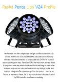 Lumière de PARITÉ de l'intense luminosité 24LEDs*15W 5in1 Rgbaw DMX DEL de Rasha avec Powercon pour le système de son d'Evernt de lumière d'étape